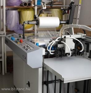 Melegfóliázó gép